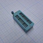"""Фото 2/2 DS1043-28, DIP панель 28-контактная с нулевым усилием 0.3""""-0.6"""""""