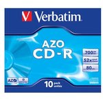 Оптический диск CD-R VERBATIM 700Мб 52x, 10шт. ...