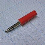 TRS 6.3 (jack) 2401, Стерео штырь красный