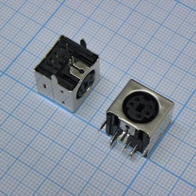 MDN-5J розетка на плату полный металл