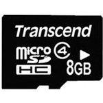 Карта памяти microSDHC TRANSCEND 8 ГБ, Class 4, TS8GUSDHC4 ...