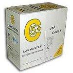 Кабель информ. Lanmaster (LAN-5EUTP-PT-GY) кат.5е U/UTP ...