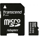 Карта памяти microSDHC TRANSCEND 4 ГБ, Class 10 ...