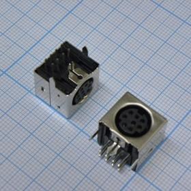 MDN-8J розетка на плату полный металл