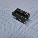 Фото 3/3 ICSS-20 (DS1010-20W), DIP панель 20-контактная шаг 1.778мм (OBSOLETE)