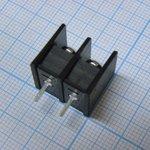 Фото 2/2 DG25C-B-02P-13, Клеммник 2-контактный шаг 7.62мм
