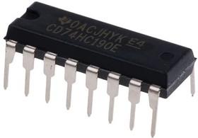 CD74HC190E, Логический элемент ТТЛ счетчик десятичный асинхронный 4 бита КМОП кристалл [DIP-16]
