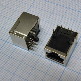 TJ8P8C розетка в плату 59-01 (5921-C), RJ45