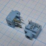 TRS 3.5 (mini jack) PJ317, Стерео гнездо на плату, синий
