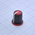 Ручка KA483-7 черн.-красный. d=6