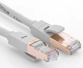 UG-11287, Патч-корд прямой ethernet 0.5m STP кат.7, RJ45, UGreen, CU, 26 AWG, литой, белый, экранированные к