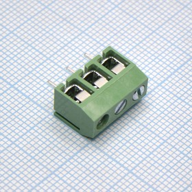 306-031-14, Клеммник зеленый 3 pin