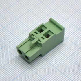 2EDGKA-5,08-02P-1-4, Клеммник 2 контакта, шаг 5.08 мм, зеленый
