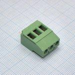 Фото 2/2 DG129-5.0-03P-14-00AH, Клеммник 3 конт. шаг 5.00 мм модульный, вертик. на плату, H = 19.5 мм, микролифт (пров. 26-12AWG/ до