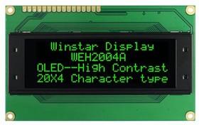 WEH002004AGPP5N00004, OLED 20x4, символьный, зеленый | купить в розницу и оптом