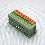 Фото 2/2 DG141R-12P (2.54mm), Клеммник нажимной угловой на плату 12 pin