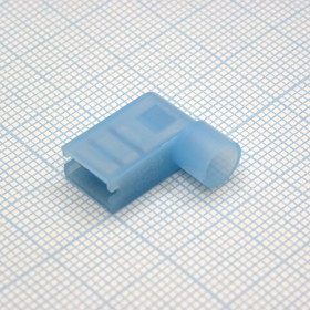 FLDNY2-250 Blue, клемма флажковая угловая синяя