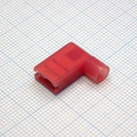 FLDNY1.25-250 Red, клемма флажковая угловая красная