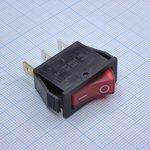 Фото 2/2 IRS-101-1C3 (красный), Переключатель с подсветкой ON-OFF (15A 250VAC) SPST 3P