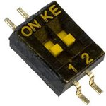 DSHP02-TSGER, DIP переключатель 2поз. SMD 1.27мм