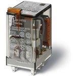 Реле миниатюрное универсальное монтаж в розетку контакты AgNi 2CO 10A ...