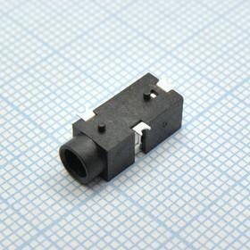 TRS 3.5 (mini jack) PJ-W17-03, Стерео гнездо на плату