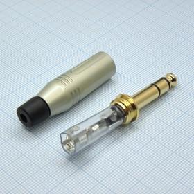 TRS 6.3 (jack) металл gold, Amphenol