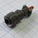 Фото 2/2 2РМТ14КПН4Ш1В1В, Вилка на кабель с прямым патрубком для неэкранированного кабеля