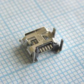microUSB 5BFR тип2 4p, розетка угловая