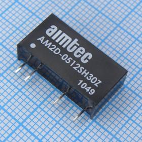 AM2D-0512SH30Z, DC-DC в пл.2Вт вх.4.5:5.5В, вых.12В/167мА