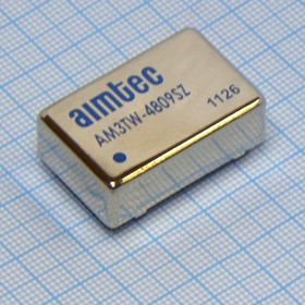 AM3TW-4809SZ, DC-DC в пл.3Вт вх.18:72В, вых.9В/330мА