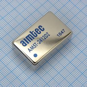 AM5T-2412DZ (DC-DC в пл.5Вт вх.18:36В, 2вых.+12В/+208мА)