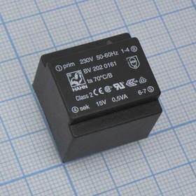 BV 202 0161, Power Transformer 0.5VA 4Term. PC Pin Thru-Hole