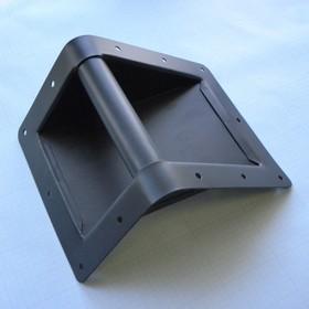 Ручка для боксовTWS-160(боковая угловая), метал, чёрная