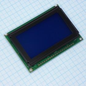 WG12864B-TML-T#N, ЖКИ графич, 128х64, подсв. Бел, инд. Синий, Negative,12 o'cl