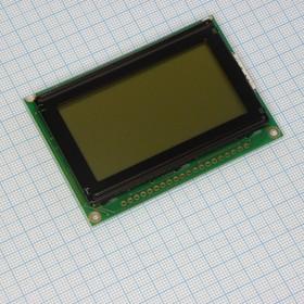 WG12864B-YFH-V#N, ЖКИ графич, 128х64, подсв. Ж-З, , 6 o'cl.