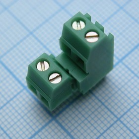 DG381B-3.81-04P-14-00AH, зелёный 2*2