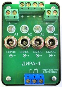 Фото 1/5 ДИРА-4, Датчик индикации разряда аккумуляторов 4-х канальный