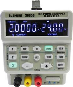 Фото 1/4 ELEMENT 3005D, Источник питания программируемый 0-30V-5А