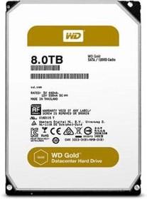 "WD8002FRYZ, Жесткий диск WD Gold WD8002FRYZ 8000ГБ 3,5"" 7200RPM 128MB (SATA-III)"