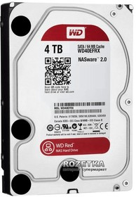 """WD40EFRX, Жёсткий диск WD Red™ WD40EFRX 4ТБ 3,5"""" 5400RPM 64MB (SATA-III) NAS Edition"""