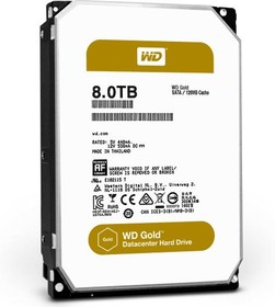 "WD6002FRYZ, Жесткий диск WD GOLD WD6002FRYZ 6ТБ 3,5"" 7200RPM 128MB (SATA-III)"