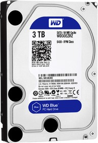 "WD30EZRZ, Жёсткий диск WD Blue™ WD30EZRZ 3000ГБ 3,5"" 5400RPM 64МB (SATA-III)"