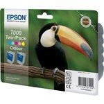 Двойная упаковка картриджей EPSON T009 многоцветный ...