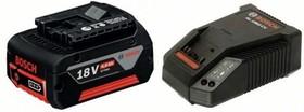1600Z00043 Аккумулятор Li-Ion1 x 18 В; 4,0Ah + 1 x AL1860 CV, Набор аккумуляторных батарей Li Ion + ЗУ