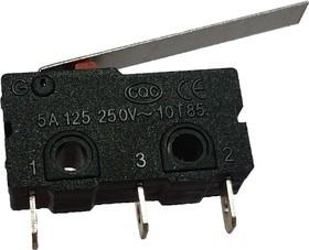 KW4-Z3F150, микровыключатель, лапка 25мм, пайка на провод (=SM5-03P-2)
