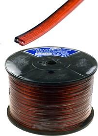 SCT-04- 1.50, Кабель акуст.2 x 1.50мм2 луженный, красно-черный прозр.