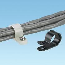 CCS12-S8-M0, Cable Management, Clamp Nylon 6/6 Black Screw Mount 3.1mm Bulk