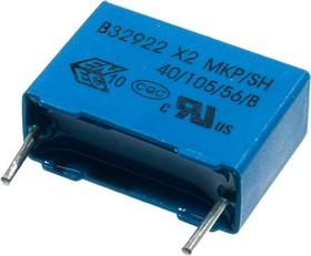 B32922C3224M, конд. Х2 0.22мкФ 340ВDC 20% шаг 15мм MKP