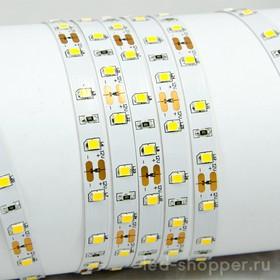 60Led-7.2W-IP23-12V теплый белый, Лента светодиодная, 60SMD(2835)/m, 7.2Вт/м, 1000Лм/м (1м)